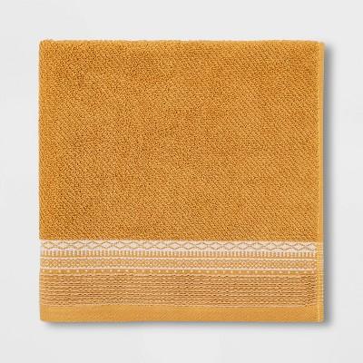 Diamond Border Terry Bath Towel Gold - Threshold™