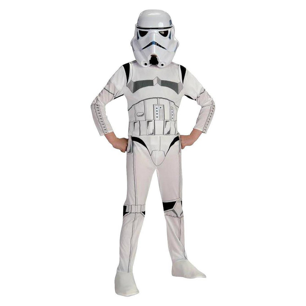 Image of Halloween Star Wars Stormtrooper Kids' Costume Small (4-6), Adult Unisex, Size: Small(4-6), White