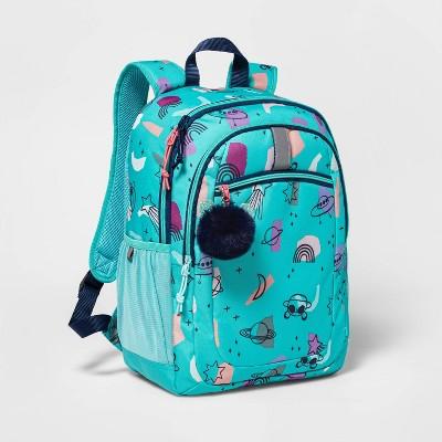 """17"""" Kids' Backpack Teal Panda Space - Cat & Jack™"""