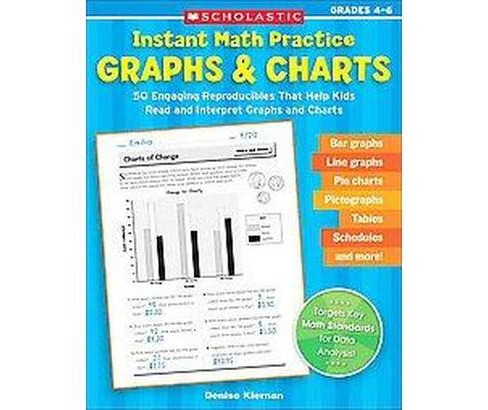 Instant Math Practice Graphs & Charts, Grades 4-6 : 50 Engaging Reproducibles That Help Kids Read and - image 1 of 1