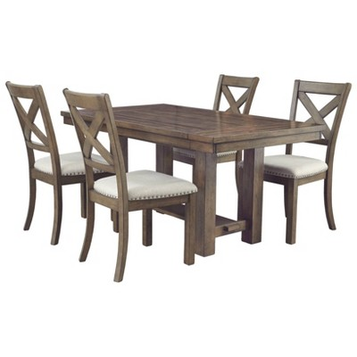 Moriville Rectangular Dining Room Extension Table Grayish Brown - Signature Design by Ashley