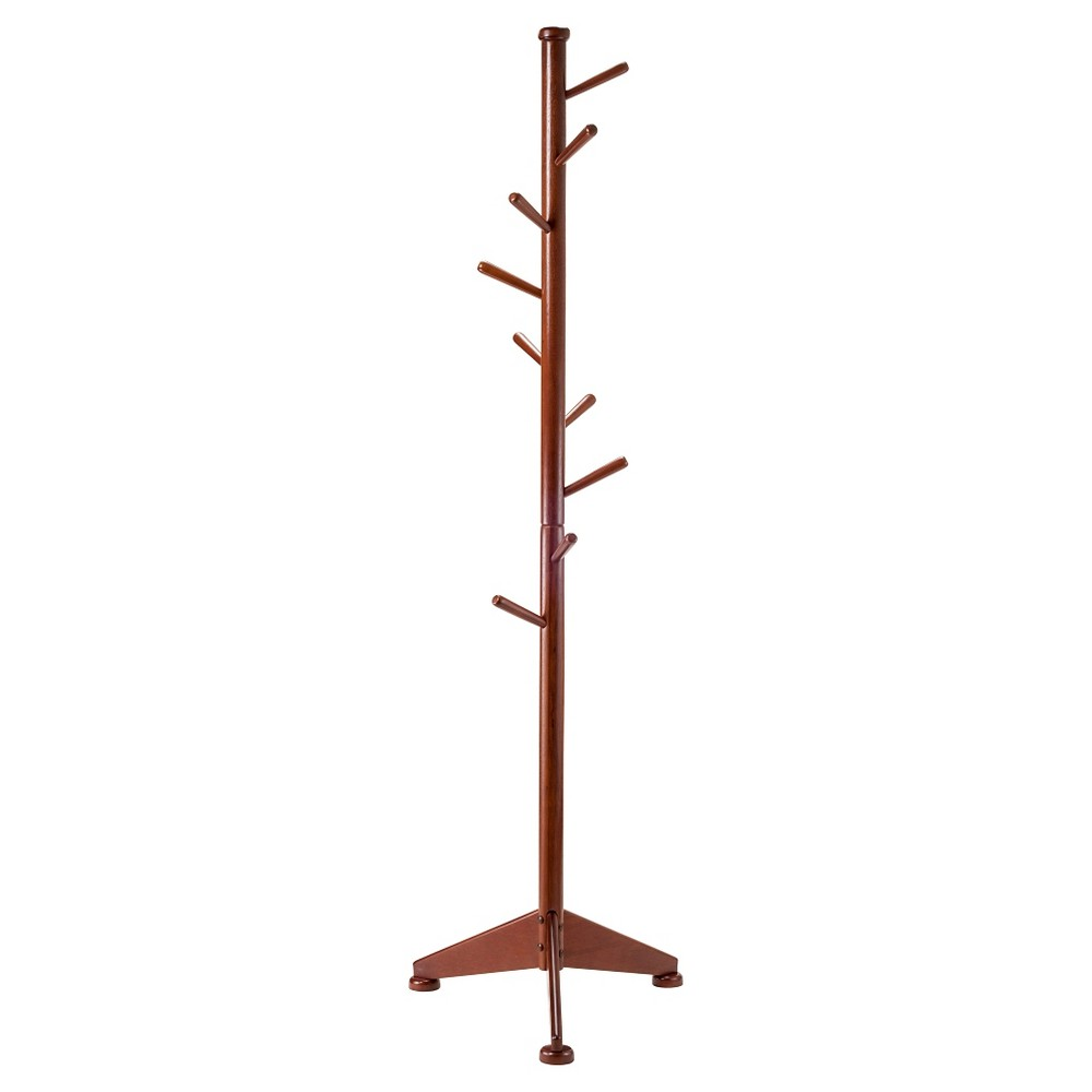 Lily Coat Tree Walnut (Brown) Finish - Winsome