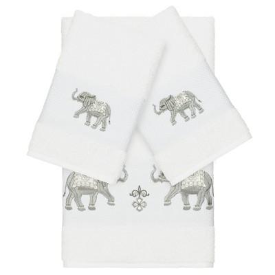 3pc Quinn Embellished Bath Towel Set - Linum Home Textiles