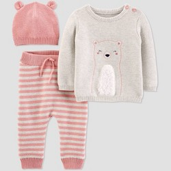 Baby Girls' Bear 3pc Top & Bottom Set - Just One You® made by carter's Pink