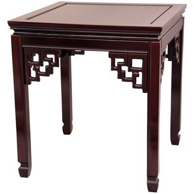 Rosewood Square Ming End Table - Oriental Furniture