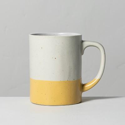 Dipped Stoneware Mug Yellow - Hearth & Hand™ with Magnolia