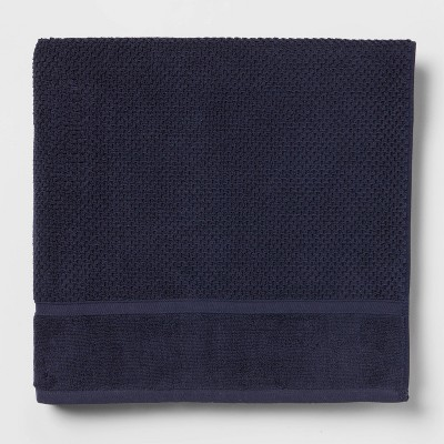 Performance Bath Sheet Navy Blue Texture - Threshold™