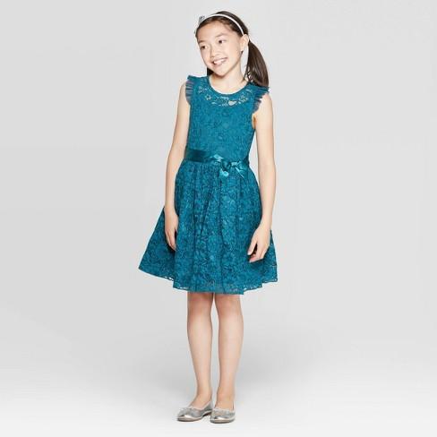 Girls' Lace Dress - Zenzi - image 1 of 3