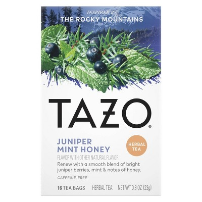 Tazo Herbal Juniper Mint Honey Tea Bags - 16ct