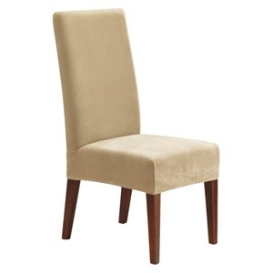 Stretch Pique Short Dining Chair Slipcover - Sure Fit, Ivory