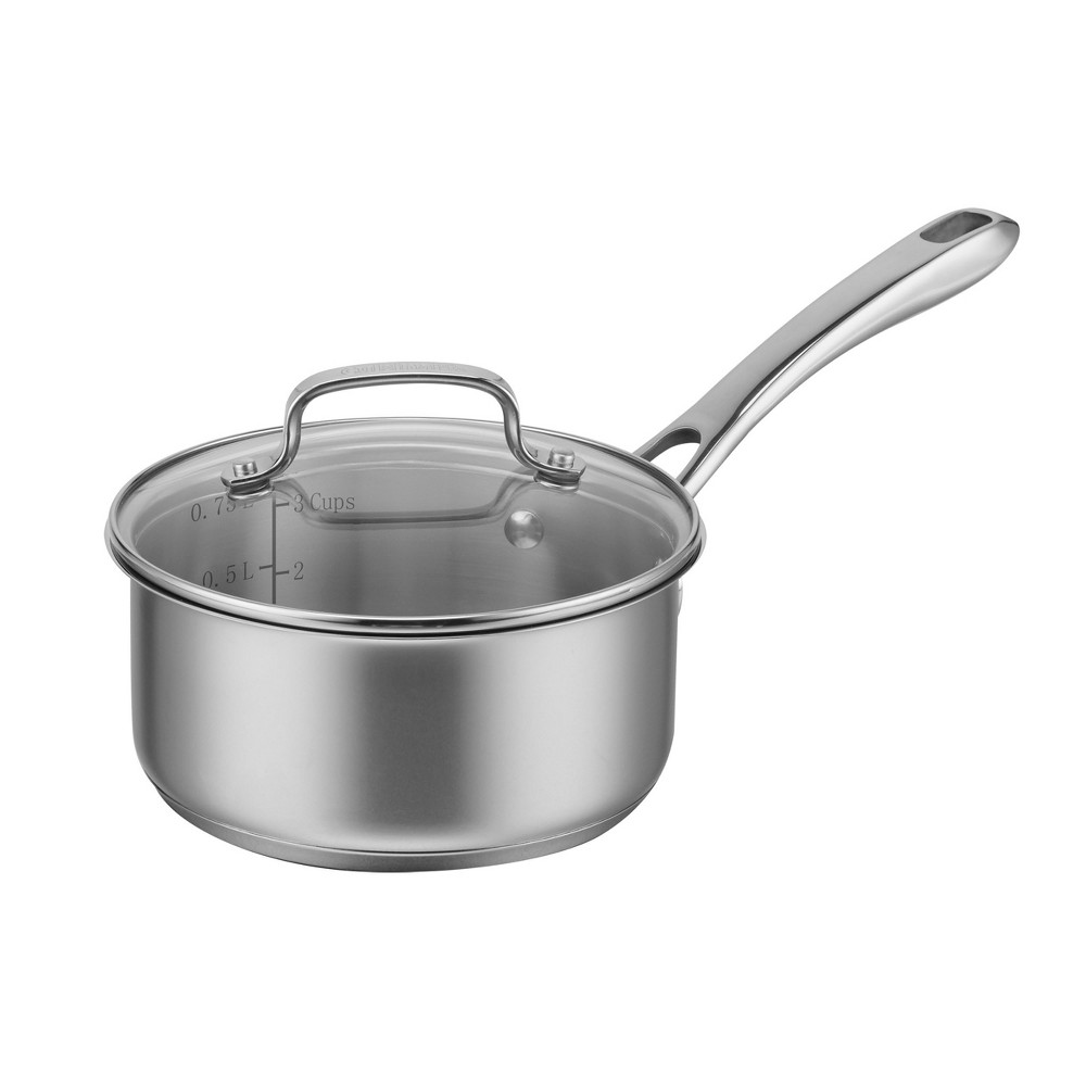 Cuisinart Classic Stainless 1qt Saucepan With Cover, Silver