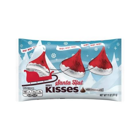 Hershey's Kisses Holiday Santa Hat Chocolates - 11oz - image 1 of 3