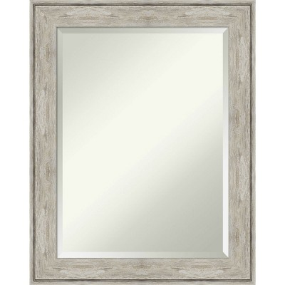Crackled Framed Bathroom Vanity Wall Mirror Metallic - Amanti Art