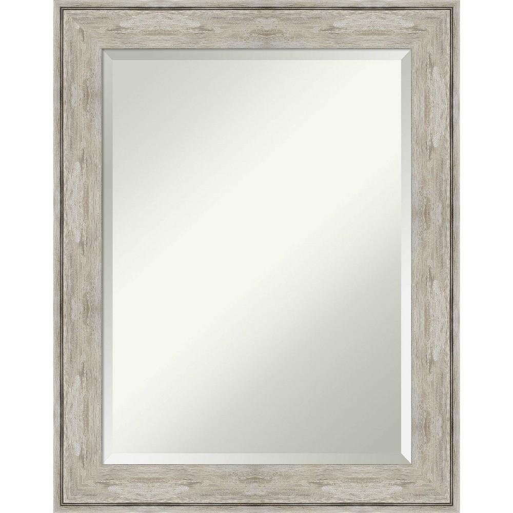23 34 X 29 34 Crackled Framed Bathroom Vanity Wall Mirror Metallic Amanti Art