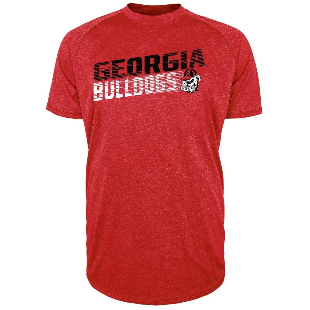 Georgia Bulldogs Men's Short Sleeve Raglan Performance T-Shirt - Xxl, Multicolored