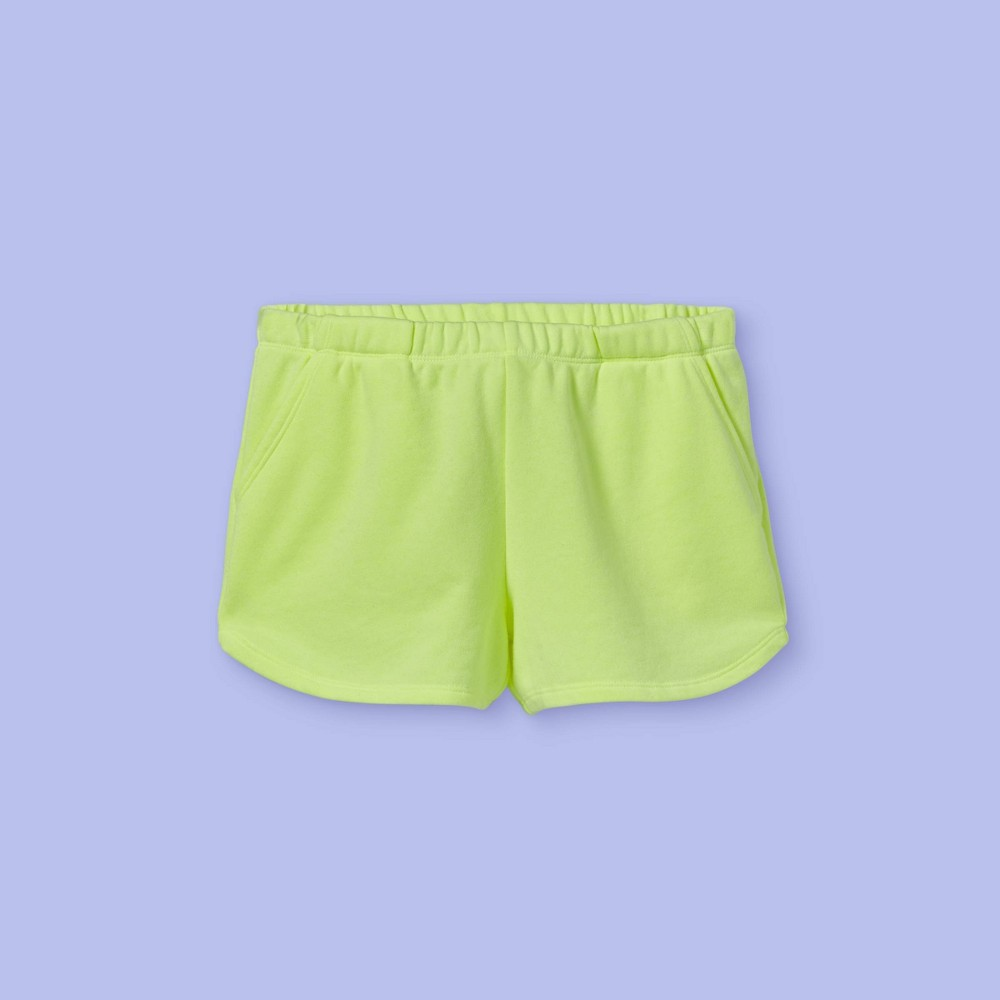 Girls 39 French Terry Shorts More Than Magic 8482 Neon Lime Xs