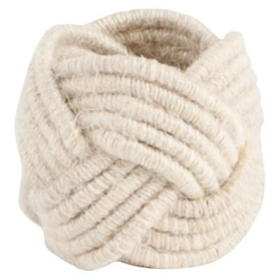 Braided Jute Napkins Rings - Ivory (Set of 4)