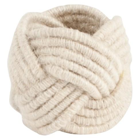 Braided Jute Napkins Rings (Set Of 4) - image 1 of 3