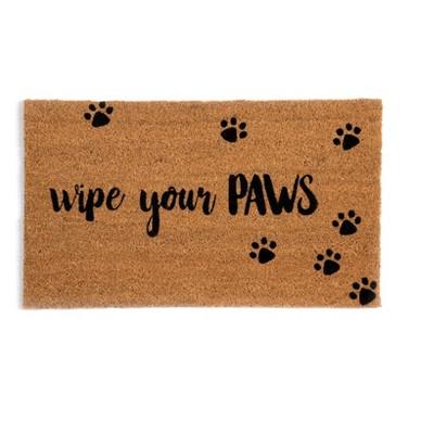 """Wipe Your Paws"" Doormat - Shiraleah"