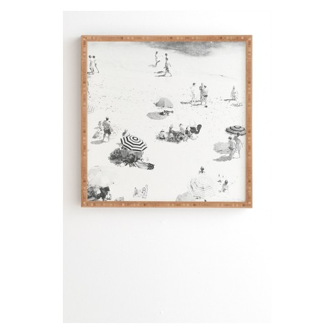 Ingrid Beddoes Happy Days II Framed Wall Art Gray - society6 - image 1 of 2
