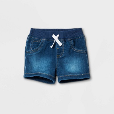 Baby Boys' Jean Shorts - Cat & Jack™ Medium Denim Wash 0-3M