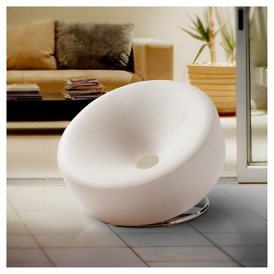 Modern Round White Accent Chair - White - Christopher Knight Home : Target