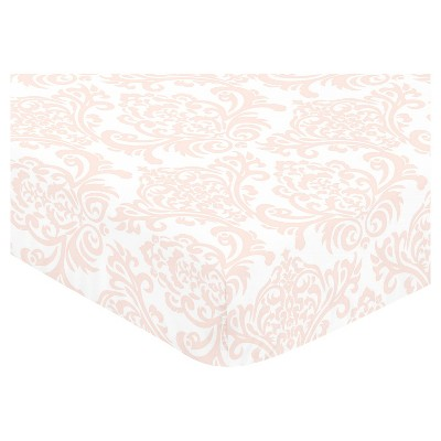 Sweet Jojo Designs Fitted Crib Sheet - Amelia - Damask Print
