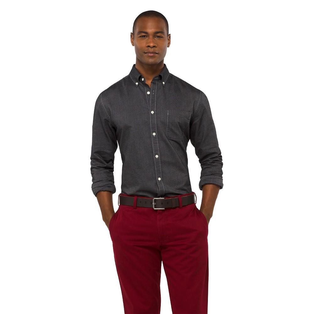 Men's Solid Oxford Shirt - Merona Manhattan mist XS