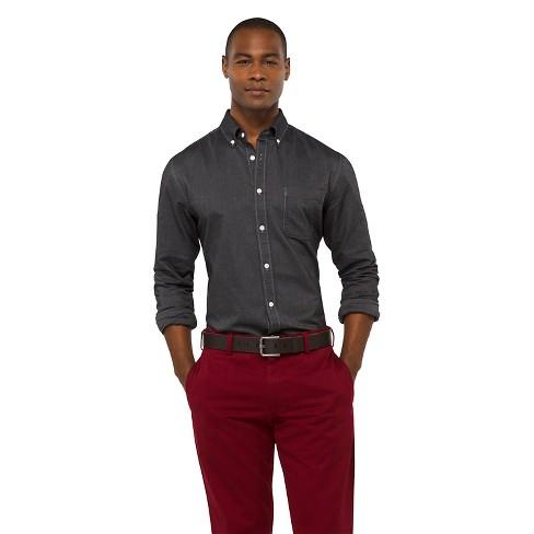 Men's Solid Oxford Shirt - Merona™ Manhattan mist XS - image 1 of 1
