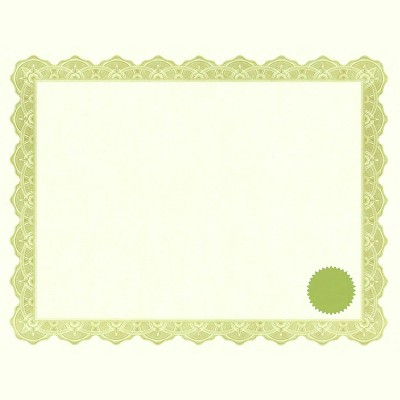 Geographics Printable Certificate with Seals, 11 x 8-1/2 inches, Optima Gold, pk of 25