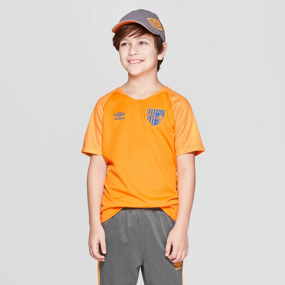 Image of Umbro Boys' Soccer Jersey - Flame Orange L, Boy's, Size: Large