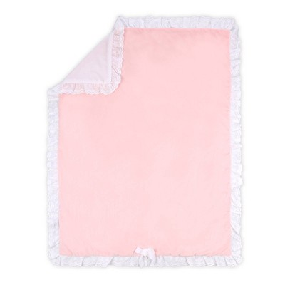 Farmhouse Crystal Velour Blanket by The Peanutshell Pink
