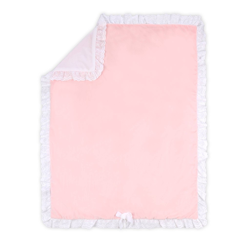 Image of Farmhouse Crystal Velour Blanket by The Peanutshell Pink