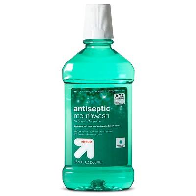 Antiseptic Mouthwash Spring Mint - 16.9 fl oz - up & up™