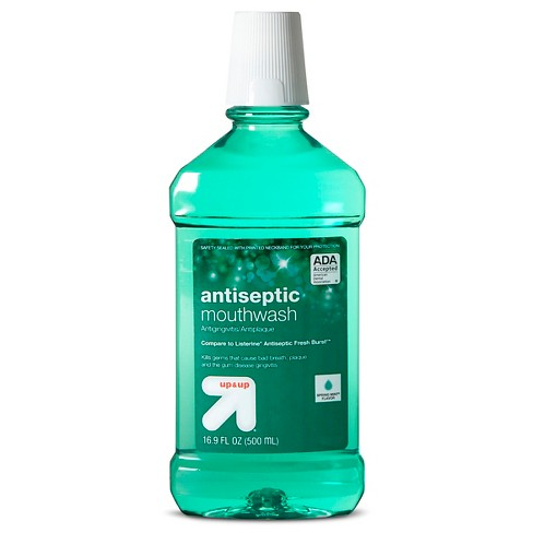 Mouthwash - Spring Mint 500ml - Up&Up™ (Compare to Listerine Antiseptic Fresh Burst) - image 1 of 1