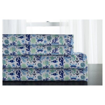 Microfiber Coastal Printed Sheet Set - Elite Home Products