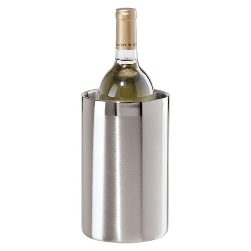 Double Wall Stainless Steel Wine Cooler, Silver