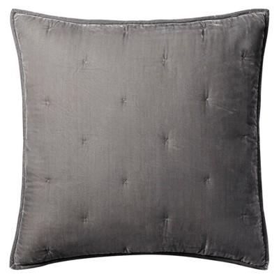 Grey Tufted Velvet Pillow Sham Polyester Standard Size - Fieldcrest®