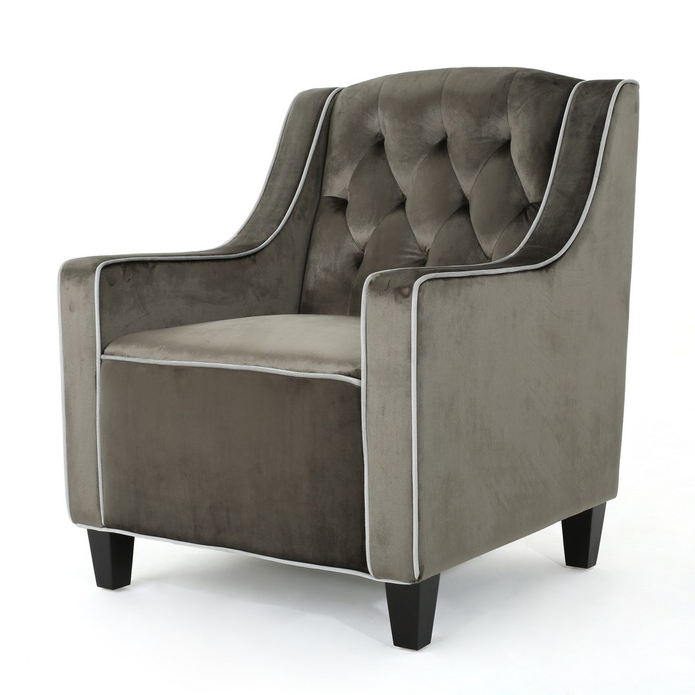 Giada Two Tone New Velvet Club Chair Gray - Christopher Knight Home
