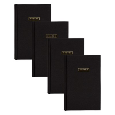 "4pc 9"" x 13"" Sentiments Photo Album Set Black/Gold - DesignOvation"