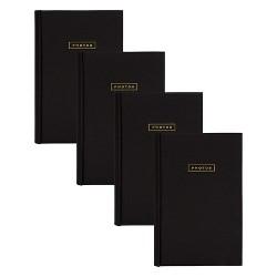 "4pc 9"" x 13"" Sentiments Photo Album Set Black/Gold - DesignOvation"