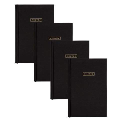 "4pc 9"" x 13"" Sentiments Photo Album Set Black/Gold - DesignOvation - image 1 of 4"