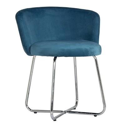 Marisol Metal Vanity Stool Blue - Hillsdale Furniture