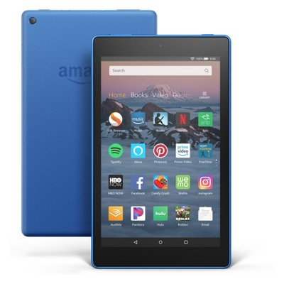 """Fire HD 8 Tablet 8"""" HD Display, 16 GB, Blue (with Special Offers)"""
