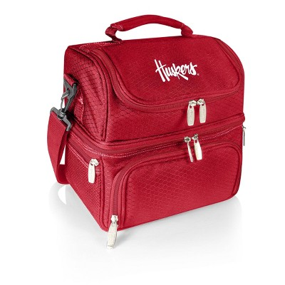 NCAA Nebraska Cornhuskers Pranzo Dual Compartment Lunch Bag - Red