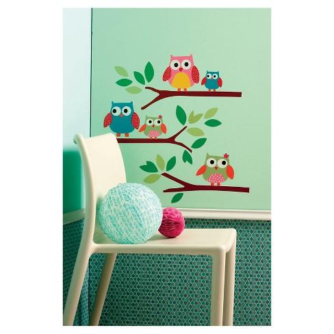 Owls Big Wall Peel & Stick Wall Decal 1 Sheet - Wallies® : Target