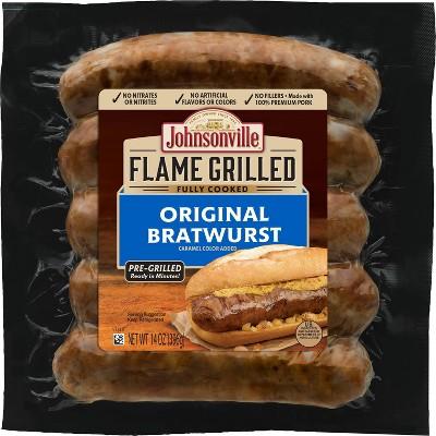 Johnsonville Flame Grilled Original Bratwurst - 14oz