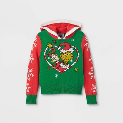 Toddler Girls' The Grinch Ugly Christmas Pullover - Green