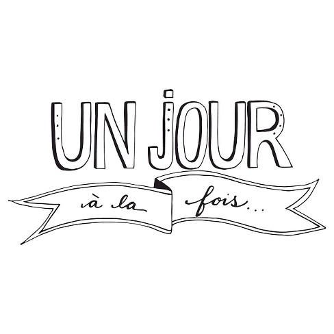 Un Jour Wall Decal - Black - image 1 of 2