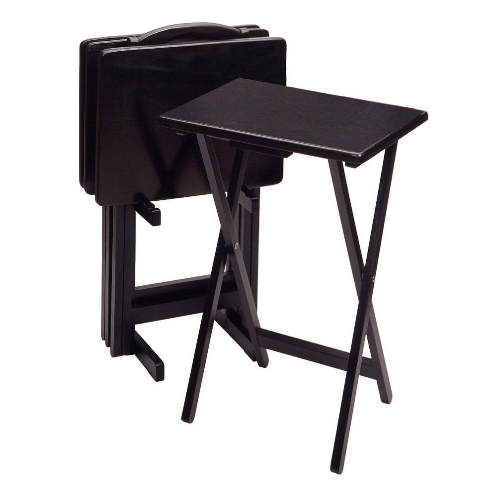 Image of Alex 5pc Snack Table Set - Black - Winsome